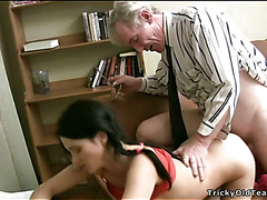 Horny older teacher copulates nasty chick senseless